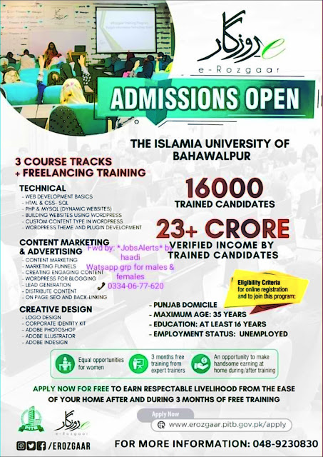 Erozgar Training Program 2020 For Male and Female Earn up to Rs50000 Per Month