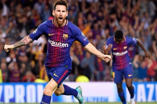 ميسي في مباراة برشلونة وجيرونا