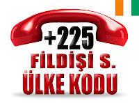 +225 Fildişi Sahili ülke telefon kodu