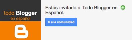 Invitación a todo blogger en español