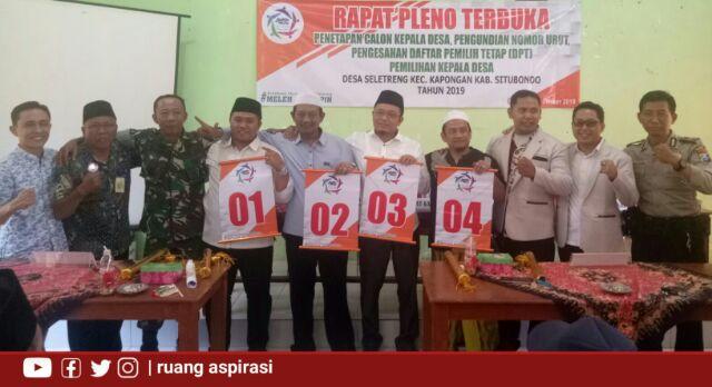 Momen-Momen Penetapan dan Pengambilan Nomor Urut Calon Kepala Desa Seletreng