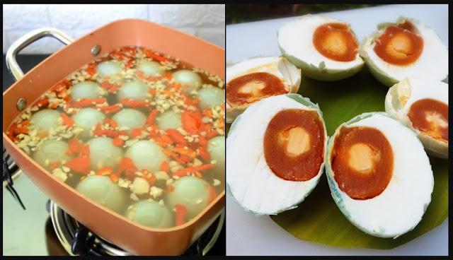 Cara Membuat Telur Asin Bumbu Rempah