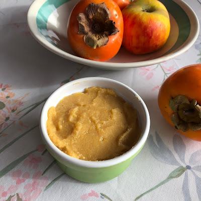 Compote kaki pomme sans sucres ajoutés