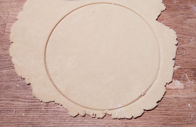 Cercle de pâte brisée
