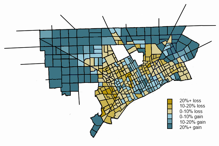 SW Ontario Urbanist: Mapping potion change in Detroit by ... on map of dearborn, map of neighborhoods in detroit, map of lincoln park, map of brownstown, map of romulus, map of west detroit, map of river rouge, map of se detroit, map of westland,