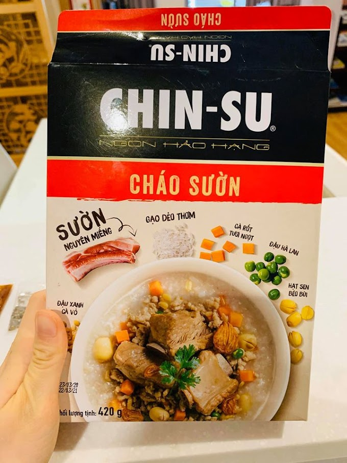 Review món cháo sườn Chin Su
