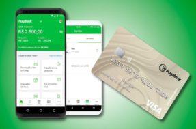 Confira os benefícios e vantagens de cartão de crédito PagBank, com limite de até R$ 50 mil e bandeira Visa, aceita em todo o mundo.