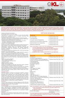 Koneru Laxmaiah Unviersity Assistant Professor, Associate Professor Jobs Recruitment 2018.jpg