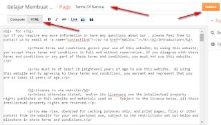 membuat halaman terms of service