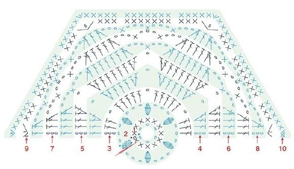 Плед «Цветочный сад». Схемы вязания (8)