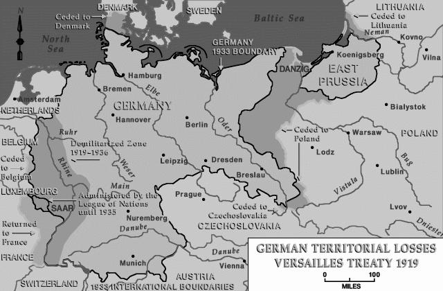Perjanjian Versailles, Germany loss, Germany after versailles treaty