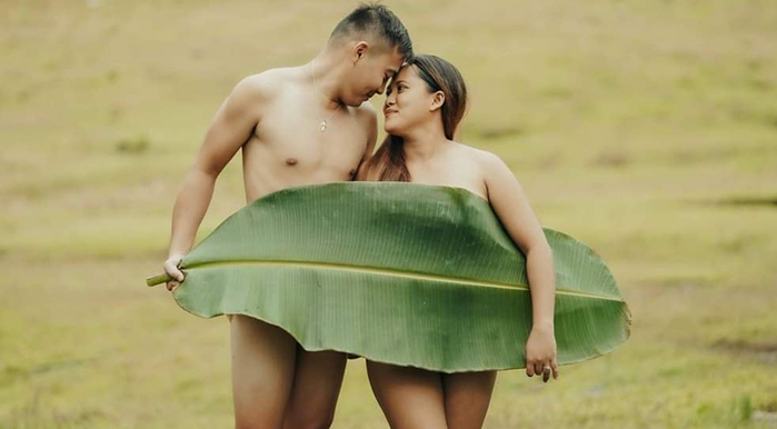Adam and Eve pre-wedding photoshoot goes viral on social media