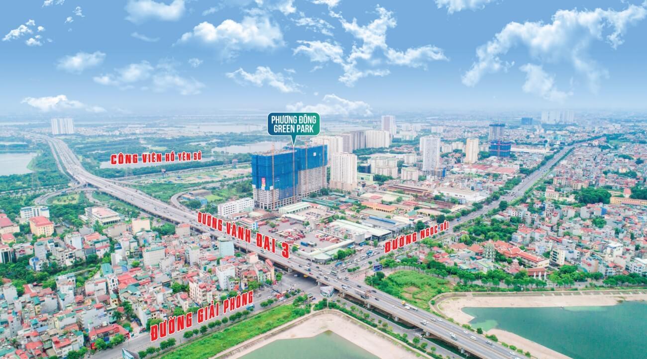 Liên kết vùng dự án Phương Đông Green Park