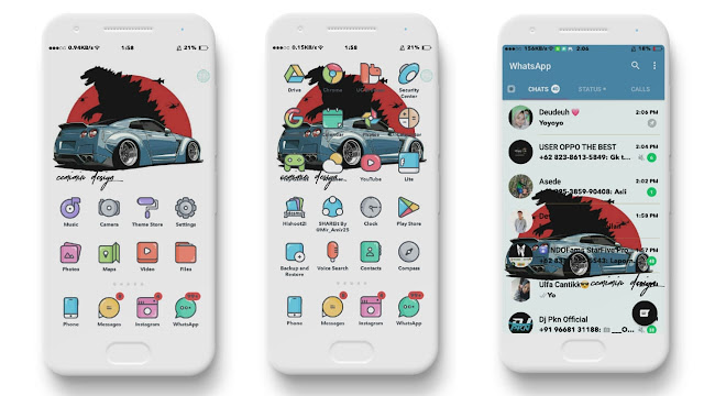 Download Flat Theme For OPPO A37, Tembus Sampai Akar V800