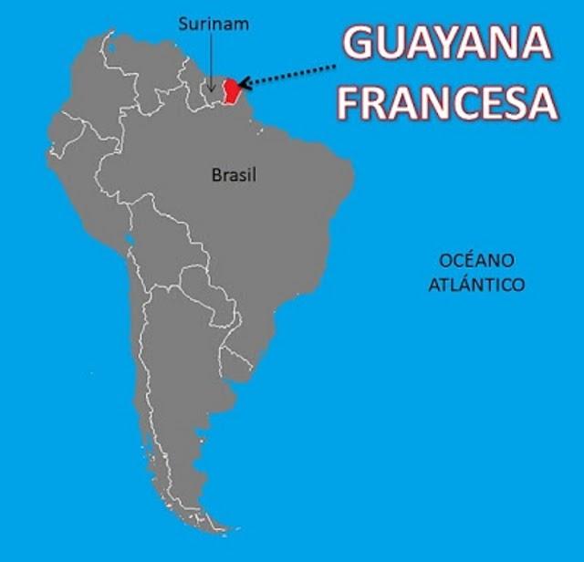 La Guayana francesa, Europa hace frontera con América