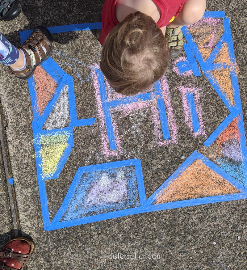 diy sidewalk chalk mosaics