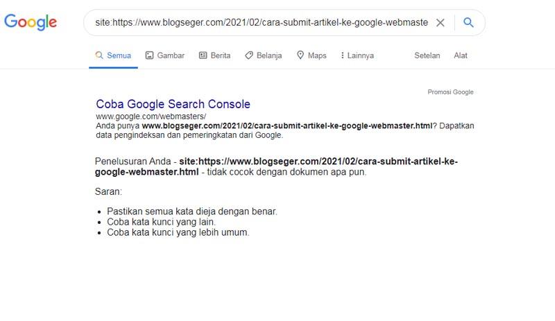 Cara Submit Artikel ke Google Webmaster