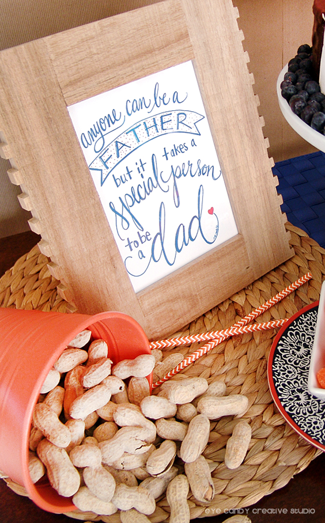 free download, father's day art print, hand lettering, framed art for dad