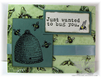 CraftyColonel Donna Nuce using Club Scrap Garden Shed and Bugs Stamps