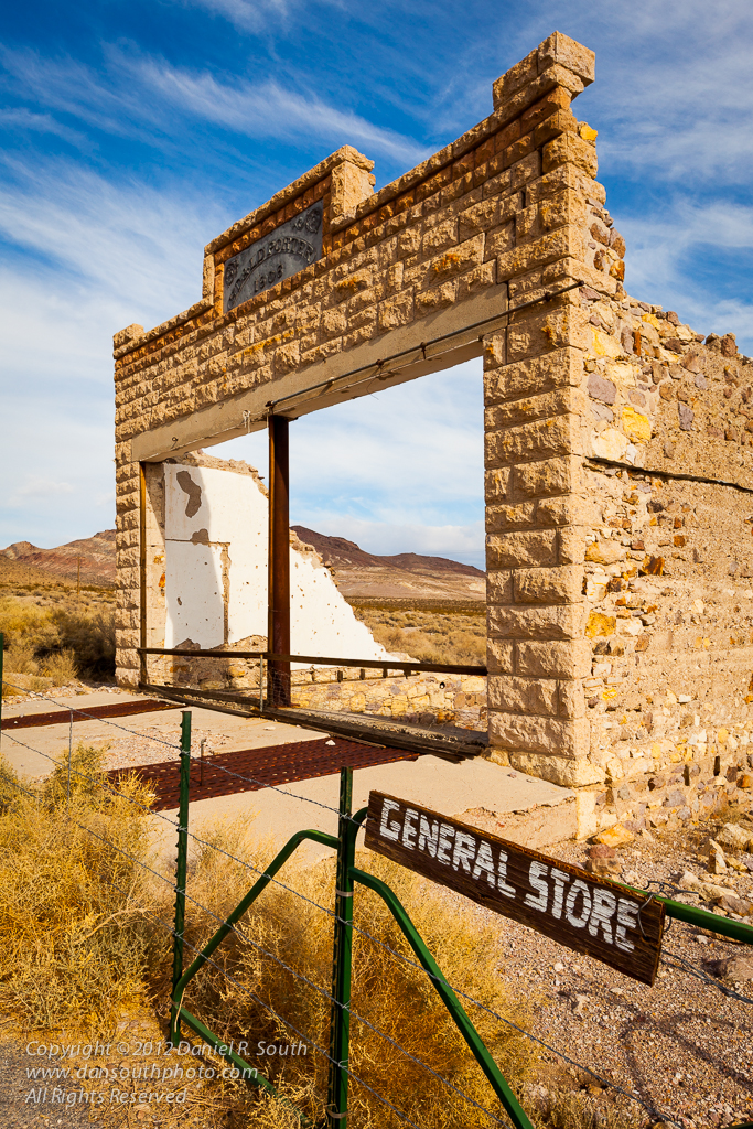 a photo of the general store at the rhyolite ghost town in nevada by daniel south