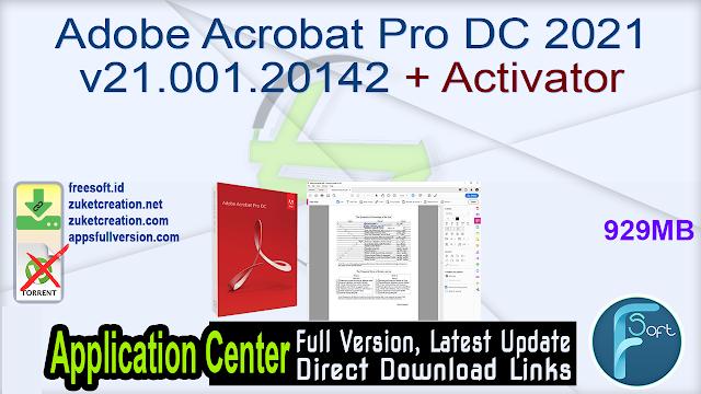 Adobe Acrobat Pro DC 2021.001.20142 + Activator