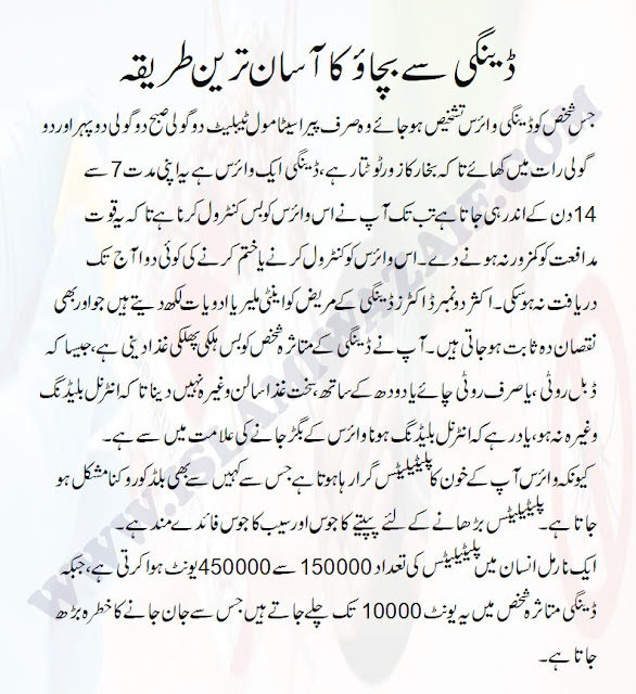 Dengue Awareness In Urdu