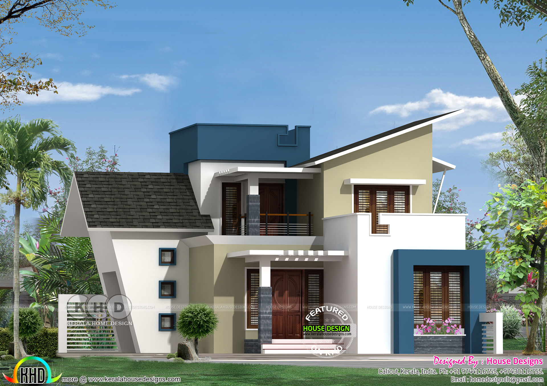 New home design by 39 house designs 39 from calicut kerala for New home designs pictures