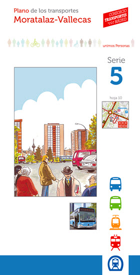 Planos de los transportes de los Distritos de Madrid actualizados a 2020