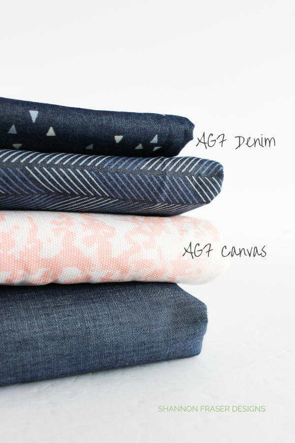AGF Denim + Canvas | Exploring Art Gallery Fabric Substrates | Shannon Fraser Designs #quilting #artgalleryfabrics #textiles #canvas
