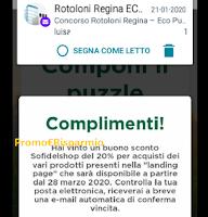 Logo Rotoloni Regina ''Eco Puzzle'': si vince davvero e gratis ! eccone una testimonianza
