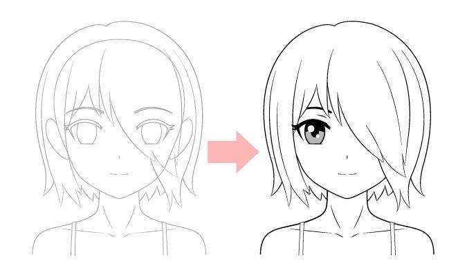 Buat sketsa bagian tersembunyi dari sebuah gambar