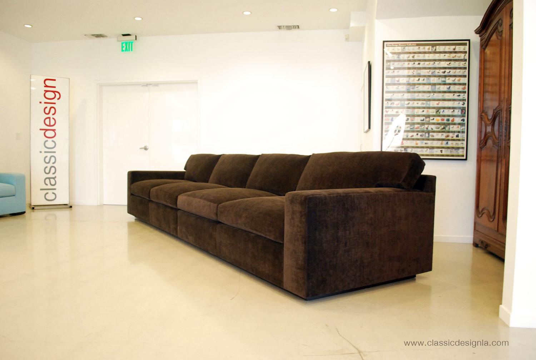 extra long sofa bed light blue crushed velvet classic design