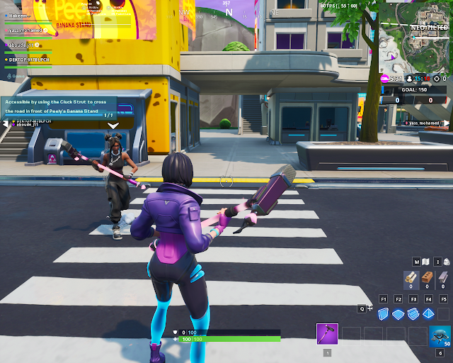 Accessible by using the Cluck Strut to cross the road in fron of Peely's Banana Stand FORTBYTE Mission #51