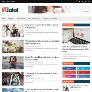 Fastest free blogger theme