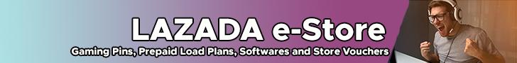 Lazada e-Store Gaming Pins, Prepaid Load Plans and Softwares