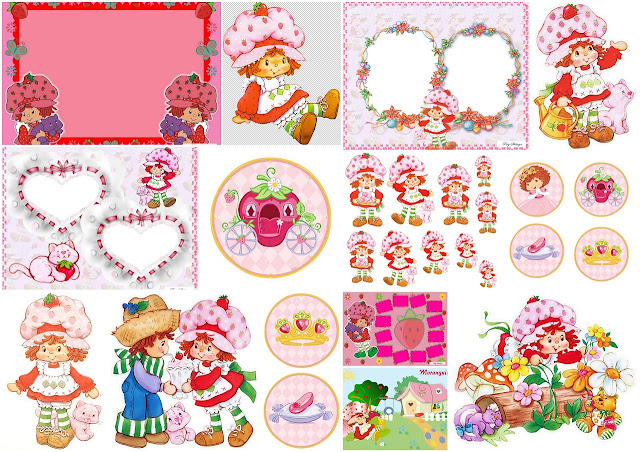 Strawberry Shortcake Princesa: Bello Mini Kit para Imprimir Gratis.