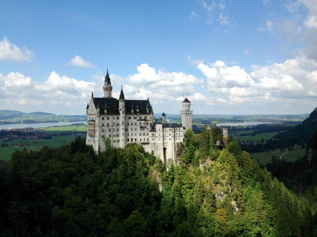 Neuschwanstein Castle, view from the bridge