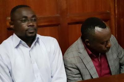 Charles Kamolo Musinga and Solomon Mwema, directors of Makindu Motors Limited, were arrested.   PHOTO | NMG
