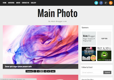 Main Photo - Plantilla Responsive Blogger