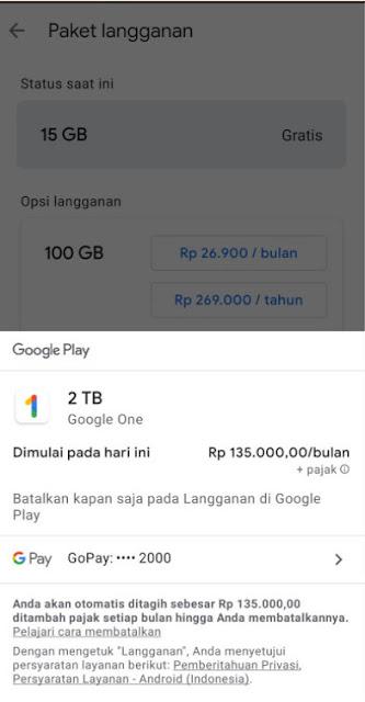 langganan aplikasi di google play