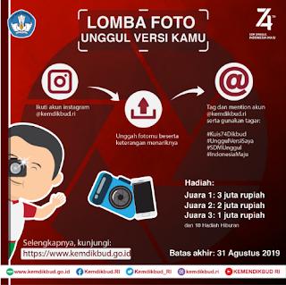 """Lomba Foto """"Unggul Versi Kamu"""" Kemdikbud"""