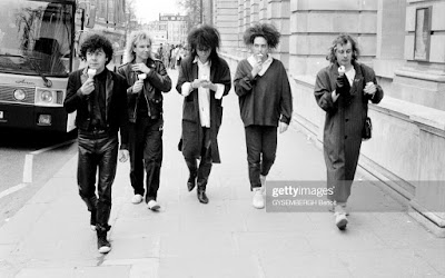 The Cure eating ice cream in London, 1986