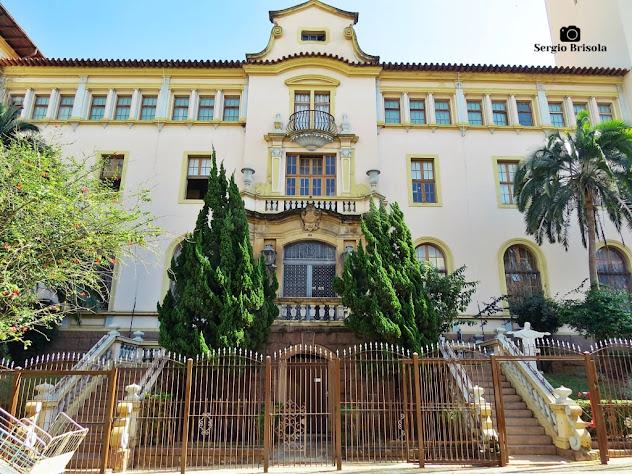Vista da fachada do Convento do Carmo - Província Carmelitana Santo Elias - Bela Vista - São Paulo