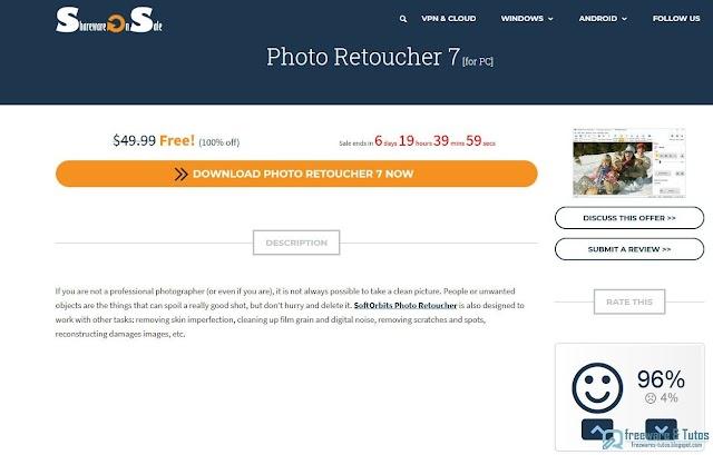 Offre promotionnelle : SoftOrbits Photo Retoucher gratuit !