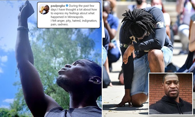 Paul Pogba exprime sa tristesse à la mort de George Floyd alors avec ses 41 millions de followers