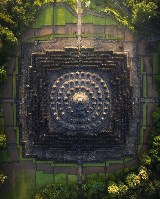 Sri Yantra Shaped 1300 years old ancient marvel of sanatan dharma in Indonesia