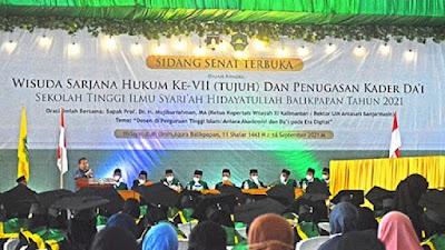 STIS Hidayatullah Gelar Sidang Senat Terbuka ke-VII dan Penugasan Dai