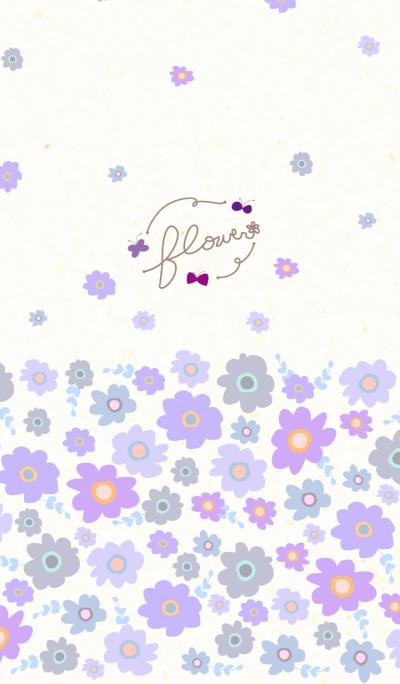 Flower a butterfly dances- Purple-joc