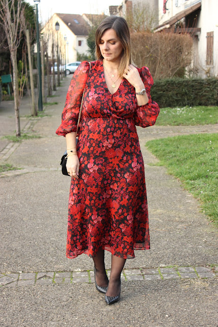 robe mango nouvelle collection, robe rouge, look du jours, les petites bulles de ma vie