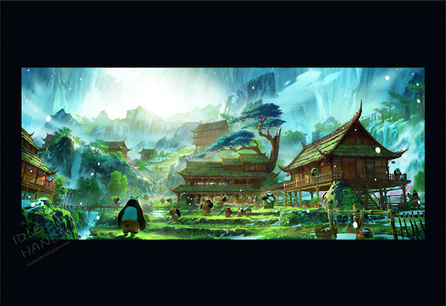SDCC 2016 FOX Exclusive KUNG FU PANDA 3 lithograph Secret Panda Village